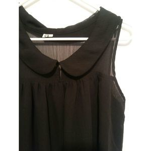 A is for Audrey Sleeveless Sheer Flowy Sz …